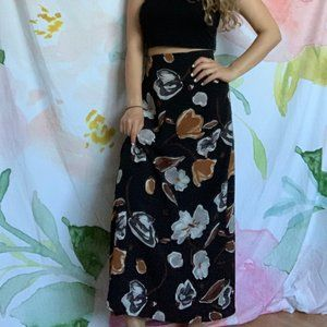 Dresses & Skirts - Beautiful Black Floral Mini Skirt